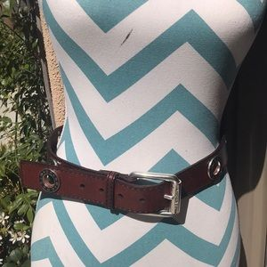 Micheal Kors Brown Leather Belt